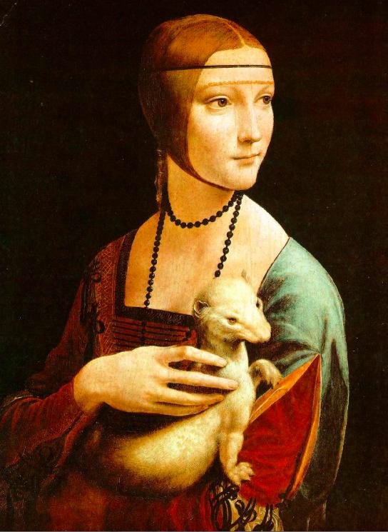LEONARDO Lady With an Ermine 1483-90