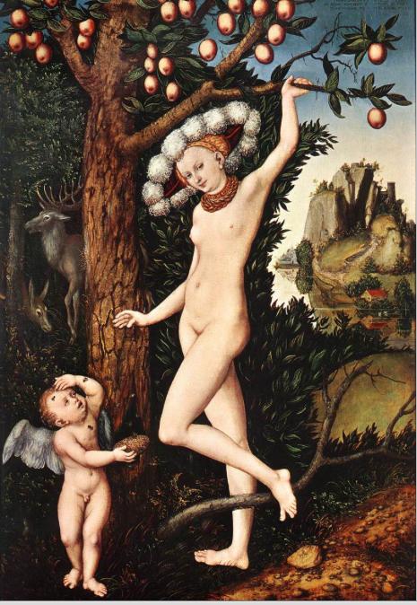 CRANACH Cupid Complaining to Venus 1526-27