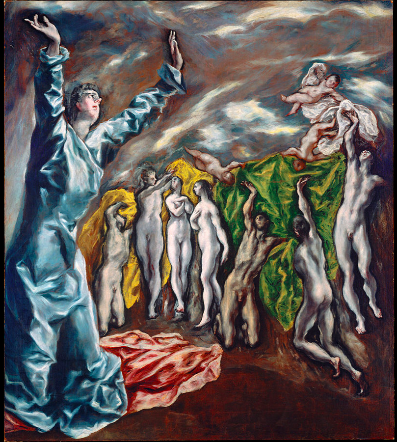 EL GRECO The Opening of the Fifth Seal 1608