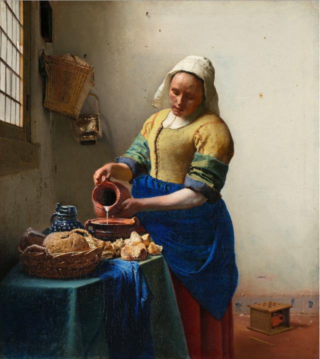 VERMEER The Milkmaid c1658