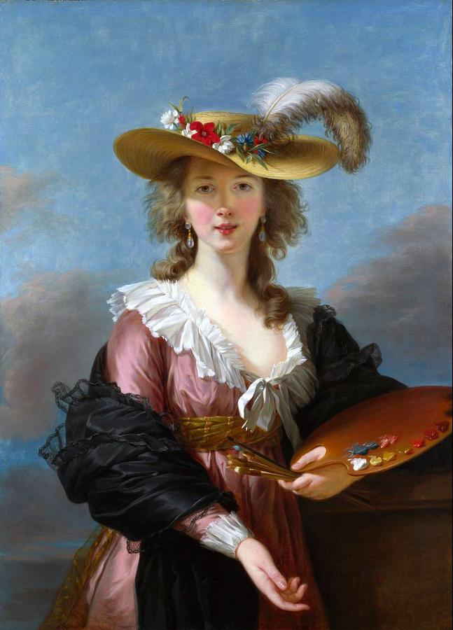 VIGEE LEBRUN Self Portrait in a Straw Hat 1782