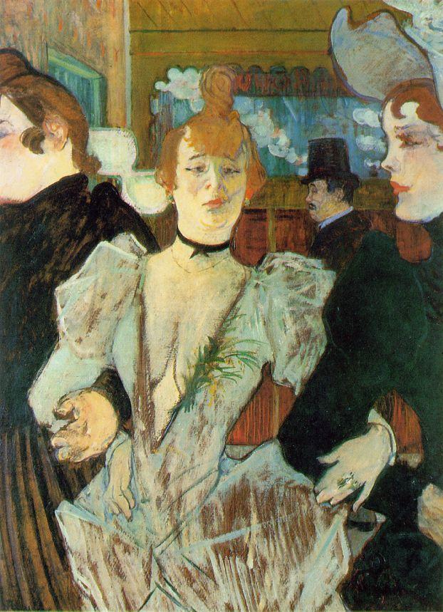 TOULOUSE-LAUTREC La Goulue Arriving at the Moulin Rouge 1892