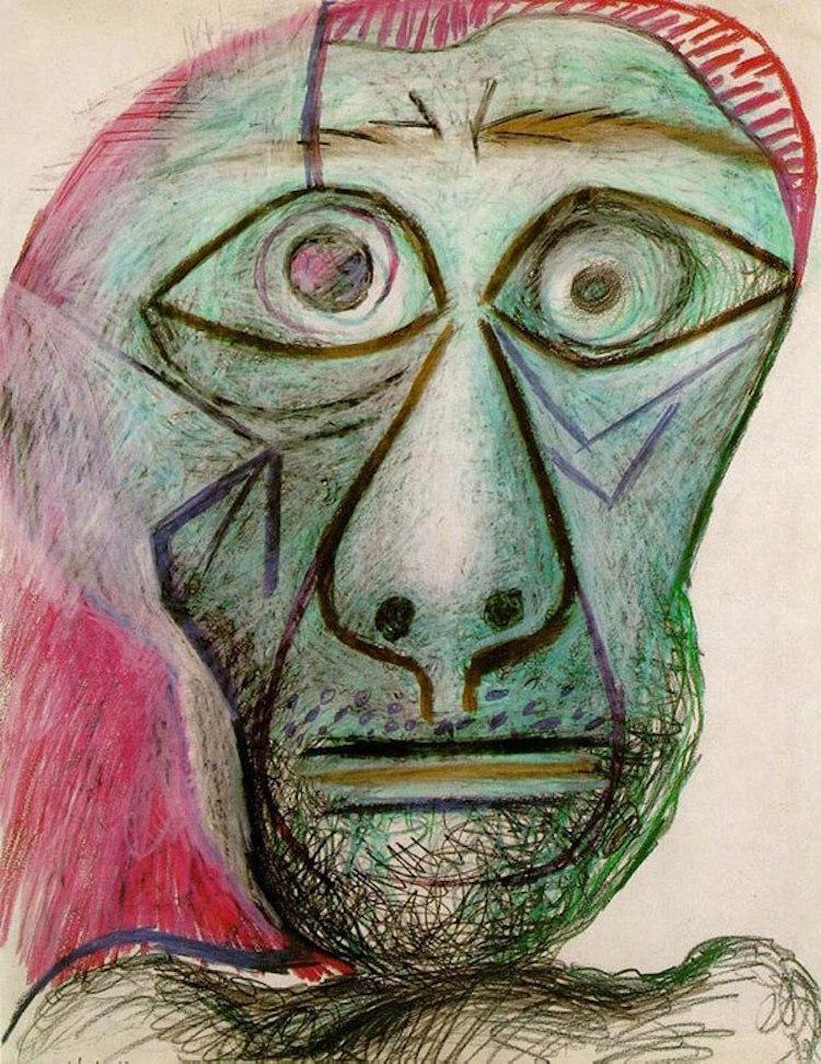 38-picasso-self-portrait